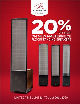 Limited Time Savings on Martin Logan's Top Speakers